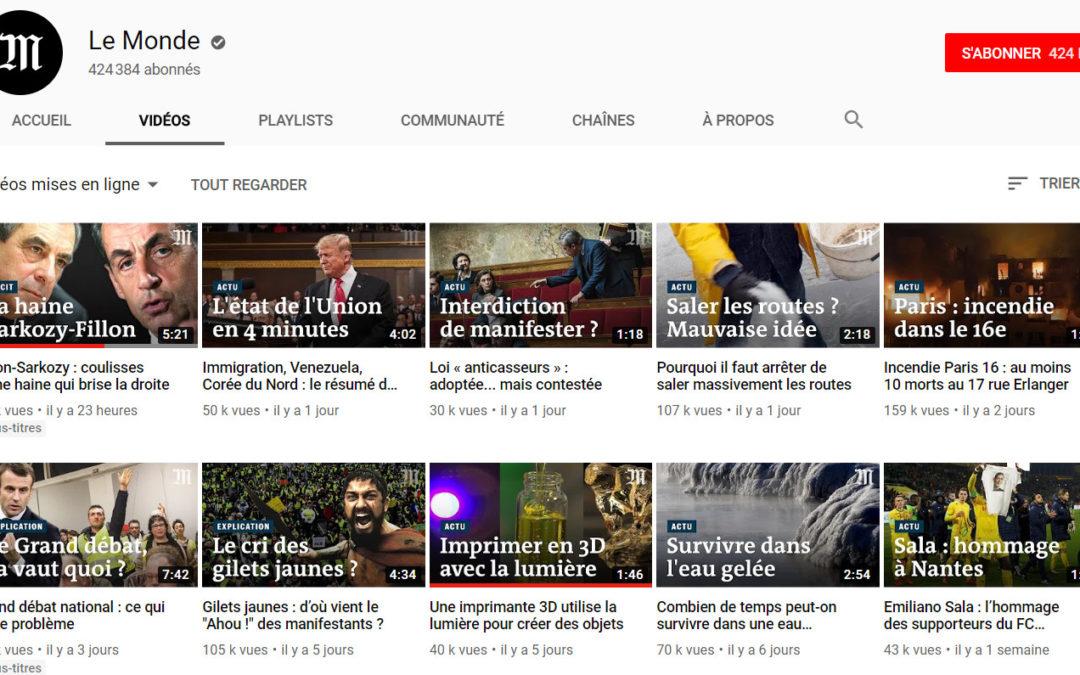 La recette du Monde pour s'adapter aux codes de Youtube
